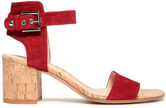 Gianvito Rossi Rikki Suede And Cork Sandals