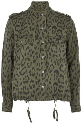 Rails Collins Dark Green Leopard-print Jacket
