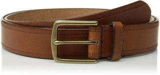 Circa Leathergoods Circa Mens Handcrafted Casual Embossed Italian Leather Belt Tan size 34