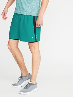 Old Navy 2-in-1 Go-Dry 4-Way Stretch Run Shorts for Men - 7-inch inseam