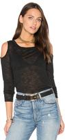 Splendid Cold Shoulder Melange Sweater