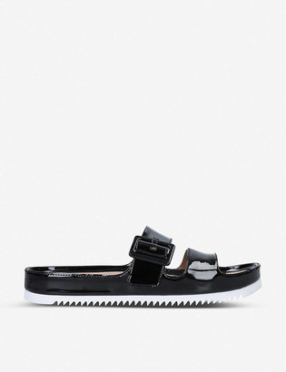 UGG Cooper patent faux-leather sandals
