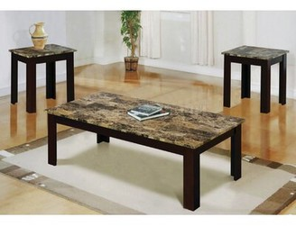 Winston Porter Messer 3 Piece Coffee Table Set Table Top Color: Brown