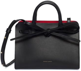 Mansur Gavriel Mini Mini Sun Bag - Black/Flamma