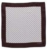 Ermenegildo Zegna Geometric Print Silk Pocket Square