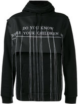 Hood by Air embroidered hooded sweatshirt - men - Cotton - S