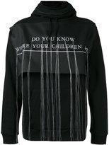 Hood by Air embroidered hooded sweatshirt