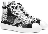 N°21 Printed High-top Sneakers