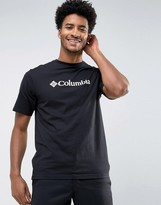 Columbia Basic Logo T-shirt In Black