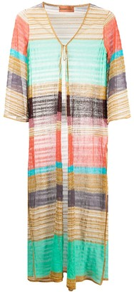 Missoni Mare Long Striped Pattern Cover-Up