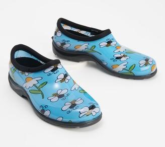 Sloggers Bee Happy Waterproof Garden Shoe w/ Comfort Insoles