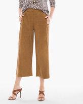 Chico's Faux-Suede Wide Crop Pants