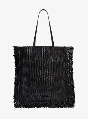 Michael Kors Maldives Woven Leather Tote Bag