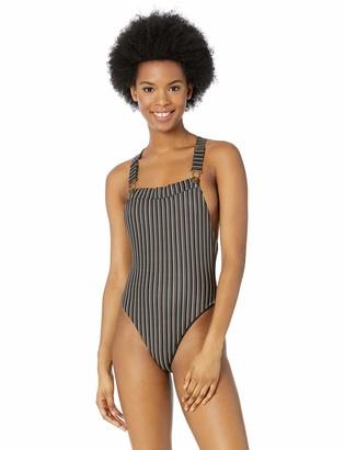 RVCA Junior's Amalfi Cheeky Onepiece Swimsuit
