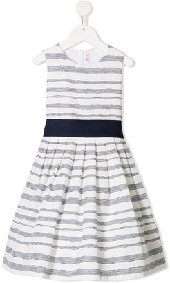 Il Gufo Sleeveless Striped Flared Dress