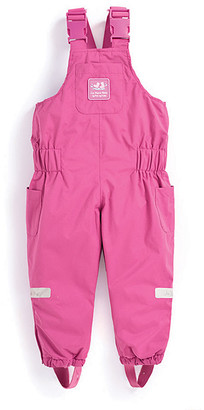 Jo-Jo JoJo Maman Bebe Girls' Overalls Fuchsia - Fuchsia Waterproof Fleece-Lined Snow Pants - Infant, Toddler & Girls