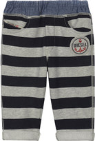 Diesel Striped cotton tracksuit bottoms 6-24 months