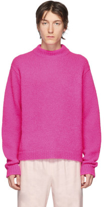 Tibi SSENSE Exclusive Pink Alpaca Sweater