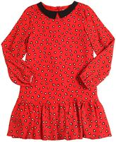 Simonetta Leopard Printed Crepe Dress