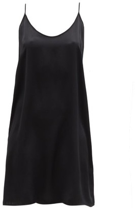 Araks Pearl Silk-charmeuse Slip Dress - Black