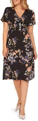 Dex Floral-Print Knee-Length Dress
