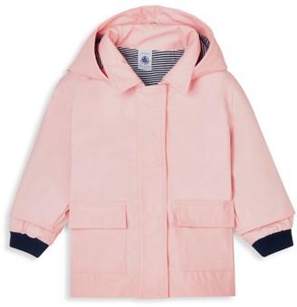 Petit Bateau Baby Girl's Hooded Rain Jacket
