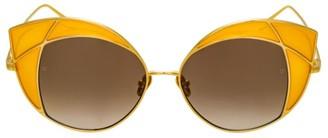 Linda Farrow 856 C3 Cat Eye Sunglasses