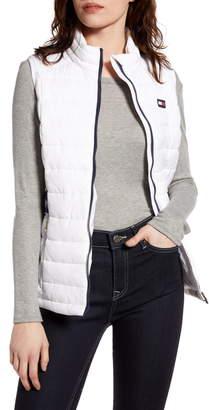 Tommy Sport Logo Cinch Waist Puffer Vest