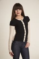 Plenty by Tracy Reese Double Sleeve Cardigan in Black