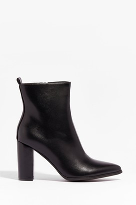 Nasty Gal Womens Step Outta Your Comfort Zone Faux Leather Boots - Black - 3