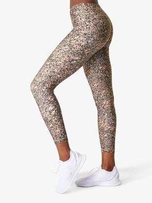 Sweaty Betty All Day 7/8 Gym Leggings, Grey Pebble Print