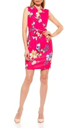 Alexia Admor Savannah Sleeveless Wrap Sheath Dress