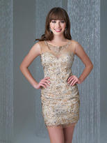 Madison James - 16-340 Dress in Gold