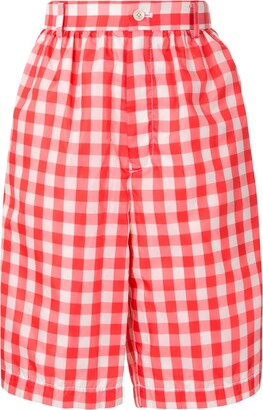 COMME DES GARÇONS GIRL Gingham Checked Knee-Length Shorts