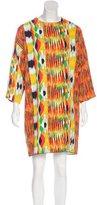 Celine Abstract Print Long Sleeve Dress w/ Tags