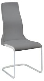 Casabianca Furniture Vero Leather Upholstered Side Chair (Set of 2 Upholstery Color: Gray