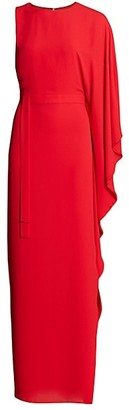 Halston Kaftan One-Shoulder Gown