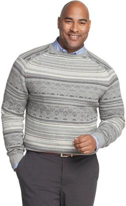 Van Heusen Big & Tall Flex Classic-Fit Fairisle Crewneck Sweater