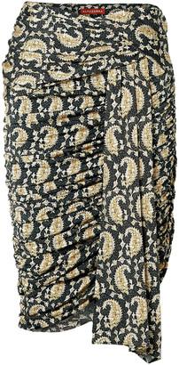 Altuzarra Ruched Draped Paisley-print Stretch-jersey Skirt