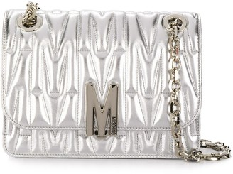 Moschino Quilted Monogram Shoulder Bag