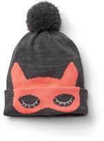Gap Cat mask pom-pom beanie