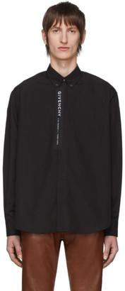 Givenchy Black Poplin Logo Shirt