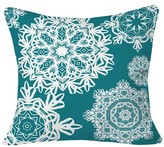 "DENY Designs Flurries Throw Pillow Teal (20"" x 20"
