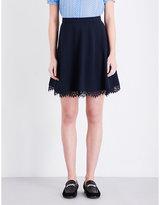 Claudie Pierlot Sorbet Lace-trimmed Woven Skirt