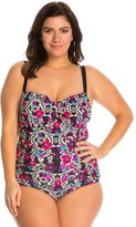 Jessica Simpson Plus Size It Girl Shirred Underwire One Piece Swimsuit 8140045