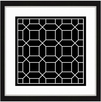 Vintage Print Gallery Black And White I Framed Abstract Art