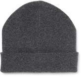 Brunello Cucinelli Ribbed Cashmere Beanie - Charcoal