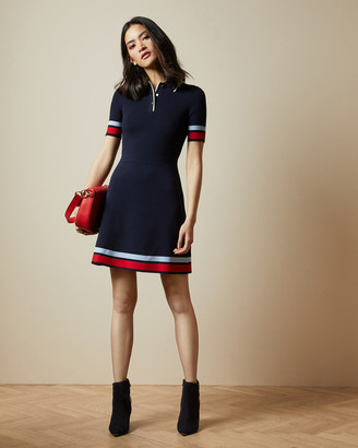 Ted Baker YNIAA Stripe detail mockable dress