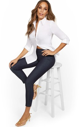 New York & Co. Whitney High-Waisted Pull-On Ankle Pant - Navy