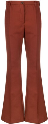 Acne Studios High-Waisted Flared Trousers